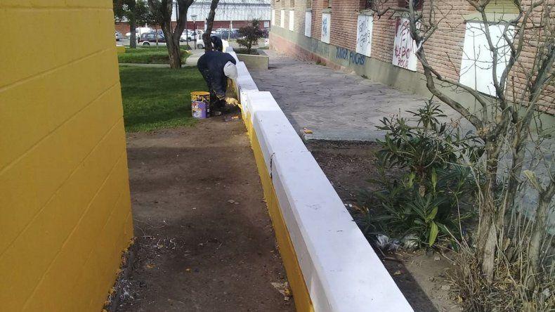 Los trabajos de reacondicionamientos que se efectuaron en la plazoleta Carlos Gardel.