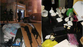 secuestraron drogas, armas y dinero en seis allanamientos