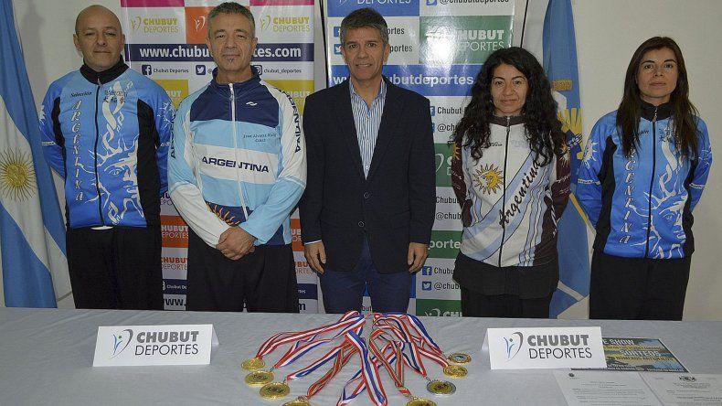 Referentes del Tai Chi Chuan junto a David Cárdenas de Chubut Deportes.