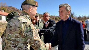 macri desplego a las fuerzas armadas para seguridad interior