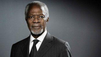 murio el ex secretario de la onu y premio nobel de la paz, kofi annan