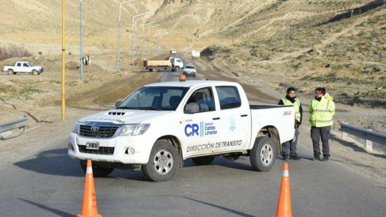 Precaución: comenzaron los trabajos en el Camino Centenario