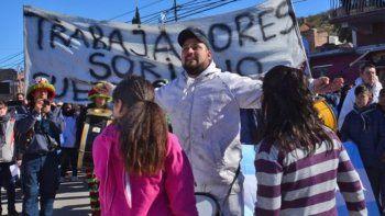 festejos empanados por protesta de desocupados