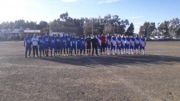Los equipos de Racing y Ciudadela de la categoría Senior.
