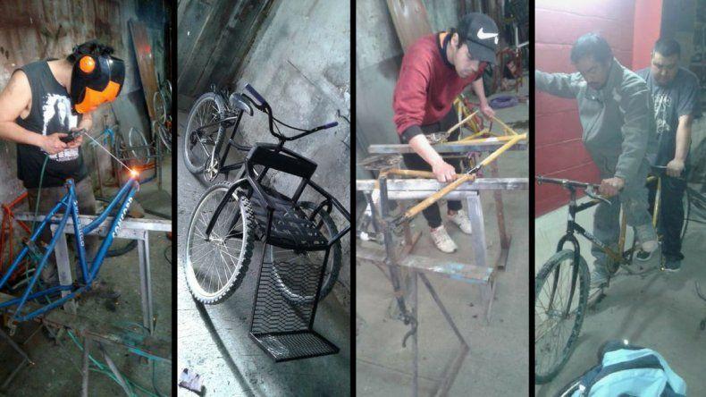 Desempleados con oficios realizan donaciones de bicicletas adaptadas