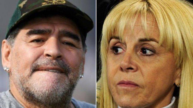 Claudia Villafañe denunció a Maradona por violencia de género