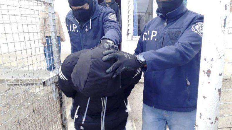 El momento de la detención del sospechoso.