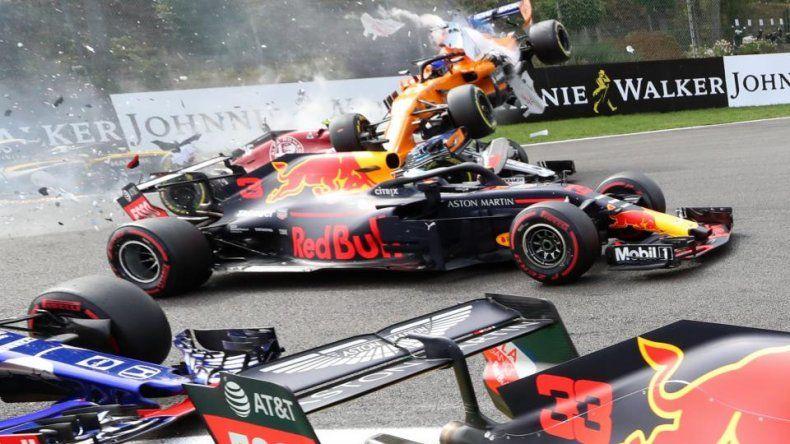 Impresionante choque en la Fórmula 1
