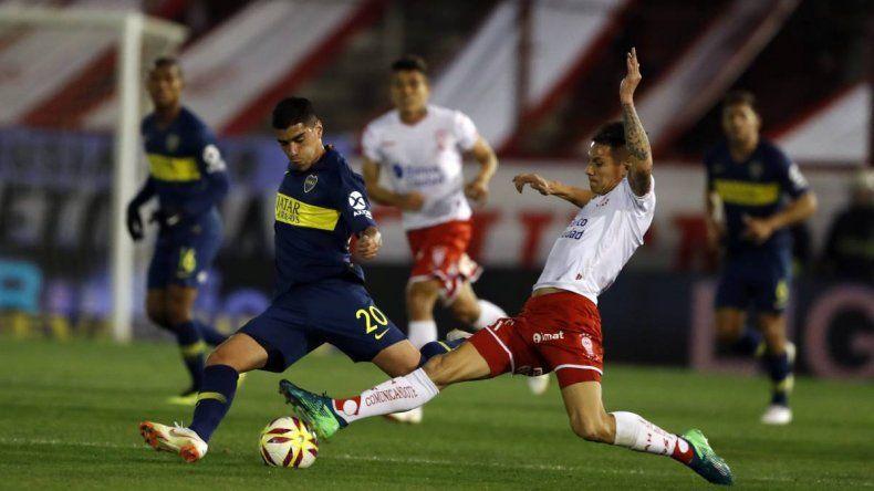 Boca jugó mal y no pudo con Huracán
