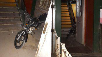 Robaron la moto de un policía que hacía adicional en supermercado