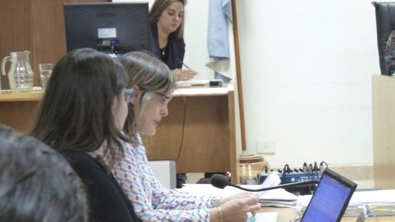 La fiscal Cecilia Codina durante la audiencia en la que se elevó a juicio la causa.