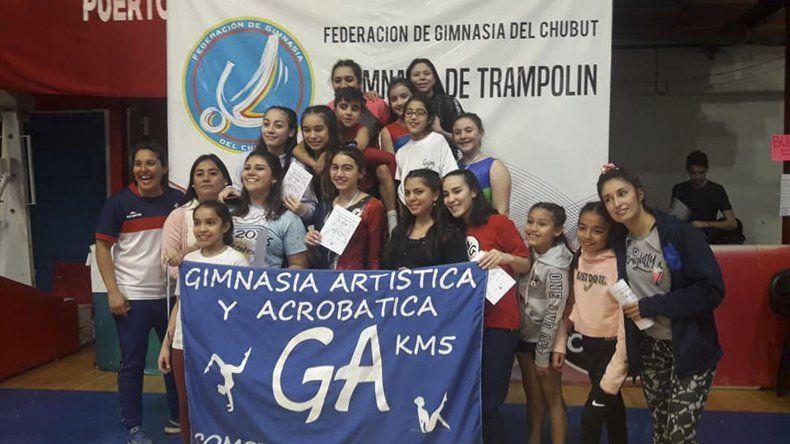 Un gran desempeño tuvo el equipo de gimnasia aeróbica de Km 5