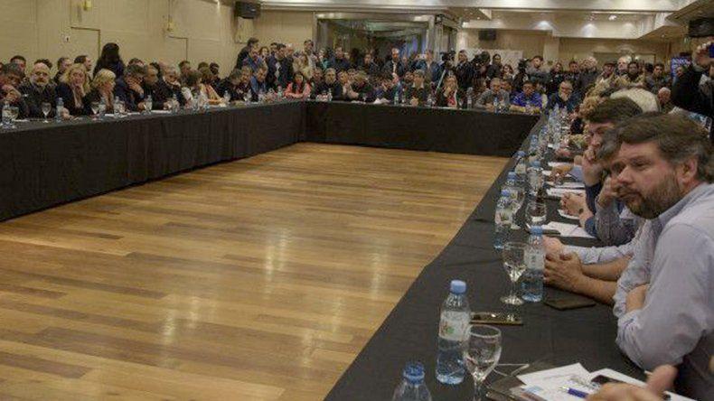 El anterior encuentro del Bloque Patagónico que sesionó el 10 de agosto en Bariloche.