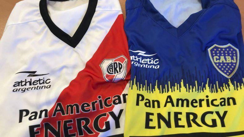 Las camisetas de River y Boca listas para el superclásico solidario.