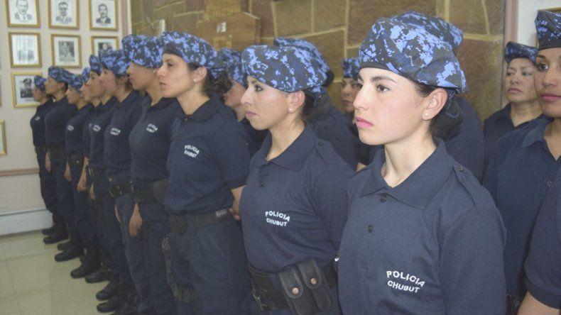 La Infantería femenina de Chubut la integran 39 mujeres.