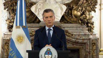 Macri brindará un mensaje esta tarde desde Casa Rosada