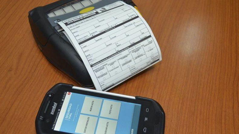 Los equipos digitales que se incorporarán para confeccionar las actas de infracción.