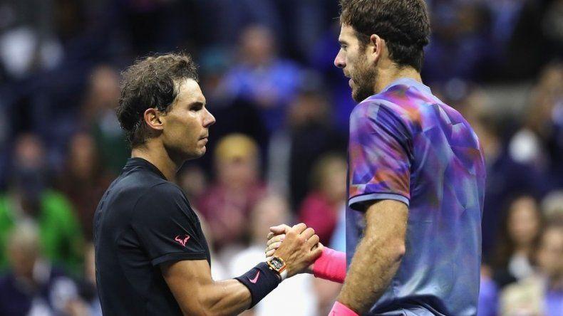 Juan Martín Del Potro y Rafael Nadal se enfrentarán hoy por 17ª vez. El español lleva un récord de 11-5 sobre el argentino.