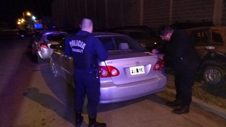 Secuestraron un automóvil con la patente adulterada