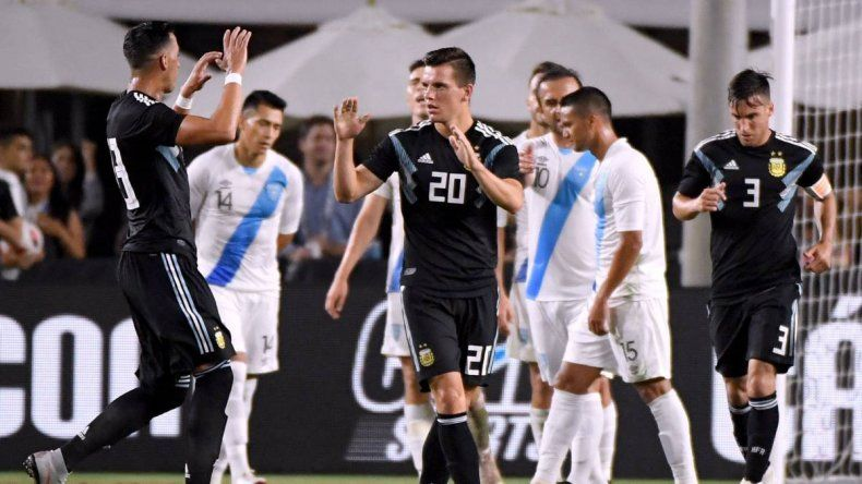 La Selección Argentina venció a Guatemala en Los Angeles