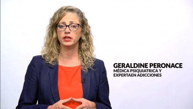 Llega a Comodoro la médica psiquiatra experta en prevención y adicciones, Geraldine Peronace