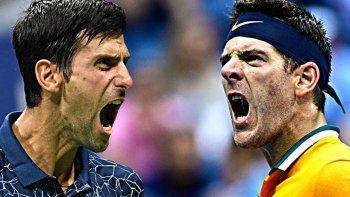 Novak Djokovic y Juan Martín Del Potro, uno de los dos celebrará esta tarde en Nueva York.