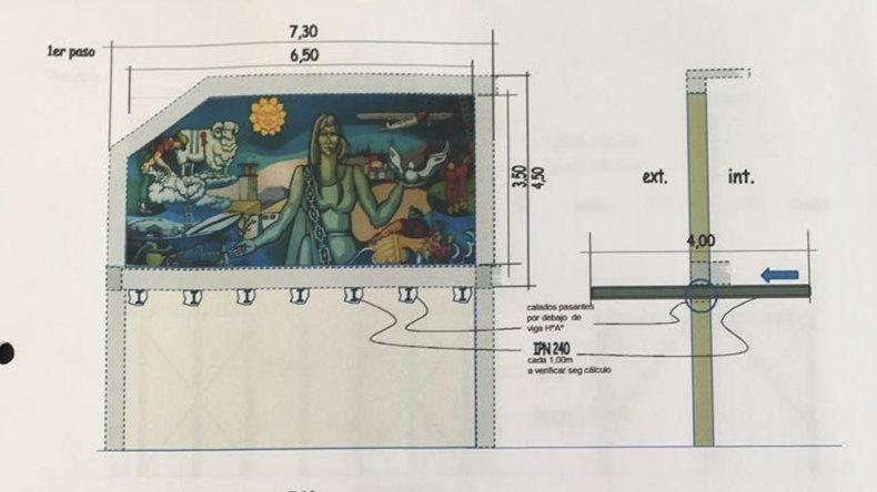 El traslado del mural fue diseñado por Marcelino Morón