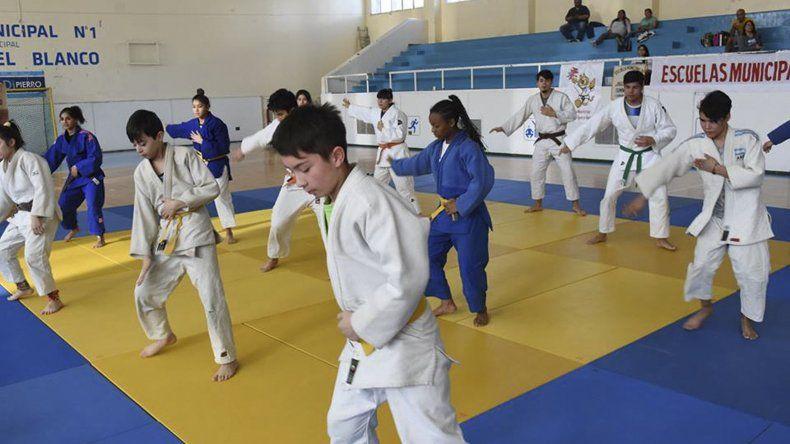 El judo para los más chicos también tuvo actividad el último fin de semana.