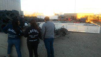robaron un camion y lo desmantelaron en el barrio industrial