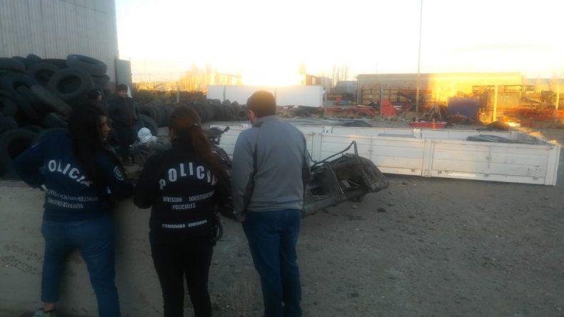 Robaron un camión y lo desmantelaron en el barrio Industrial