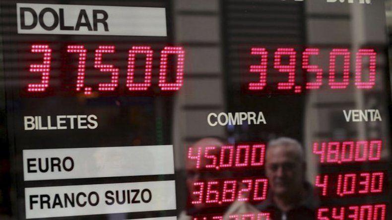 El dólar superó los 39 pesos sin intervención del Banco Central