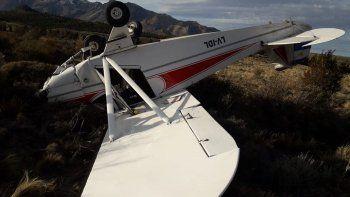 se cayo una avioneta en esquel: los tripulantes salieron ilesos