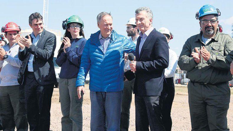Macri inauguró una planta eólica de Nicolás Caputo