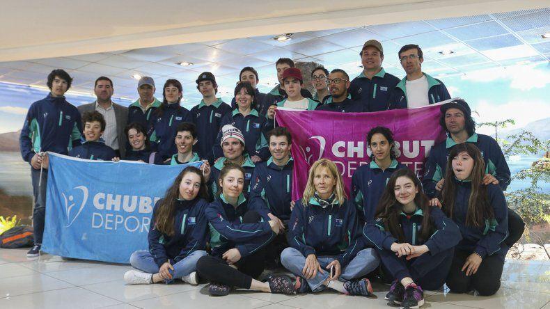 Los deportistas de Chubut viajaron con todas las ilusiones a Ushuaia.