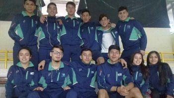 La delegación chubutense de judo que tomó parte de la Copa Kodokan.