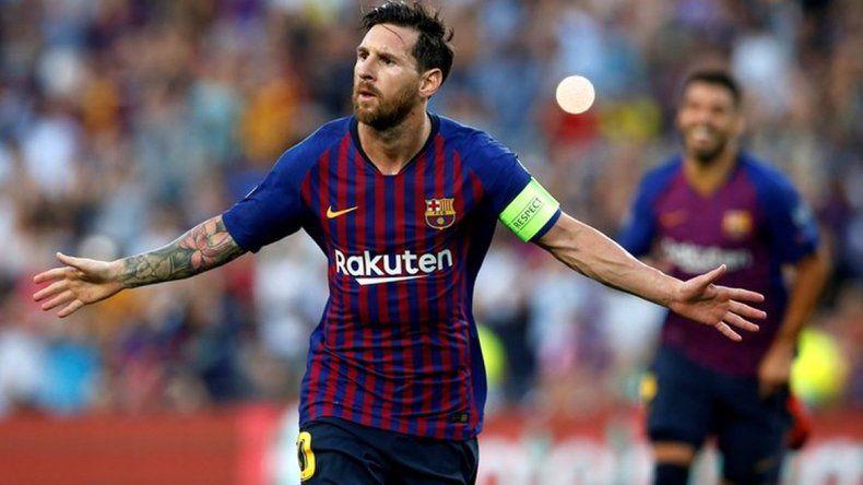 Messi brilló en la goleada del Barcelona contra el PSV