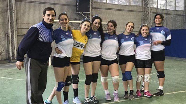 Equipo femenino de vóley de la UNPSJB.