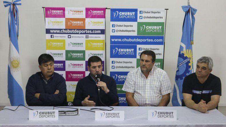 La presentación se realizó en el auditorio de Chubut Deportes.