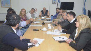 El encuentro entre concejales y funcionarios del Poder Ejecutivo municipal.