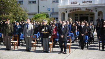 La ceremonia que se desarrolló ayer por la mañana en el patio de armas de la institución.