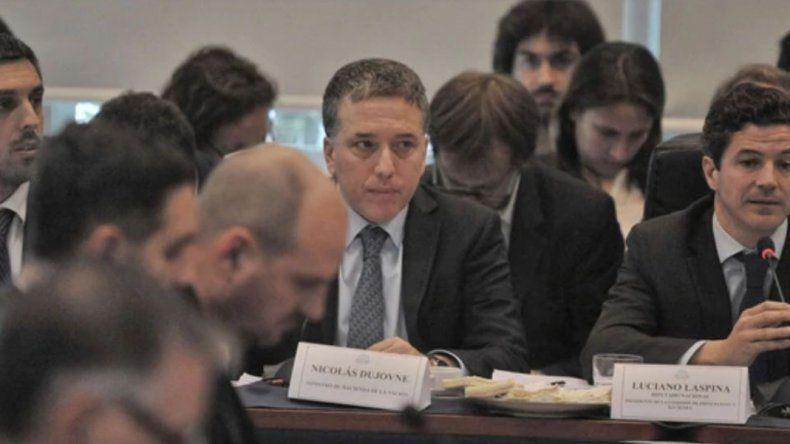 Nicolás Dujovne en su exposición ante la Comisión de Presupuesto de Diputados.