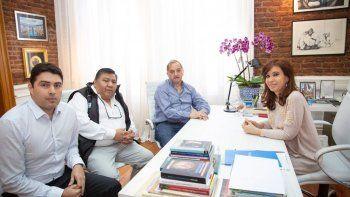 Rocha, Avila y Linares en la reunión que mantuvieron ayer con la expresidenta.