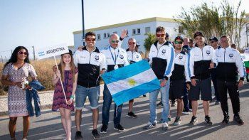 La delegación argentina que sumó experiencia en el XXXI Mundial de Pesca Submarina en Portugal.