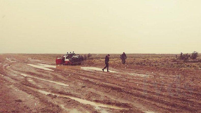 Estuvieron dos días aislados por lluvia y nieve cerca de Tres Cerros