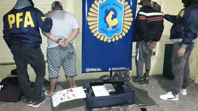 Cayó La banda del Caribe con cinco detenidos y secuestro de droga