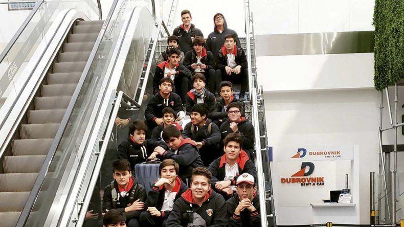 Los chicos de Comodoro RC que viajaron a Buenos Aires.