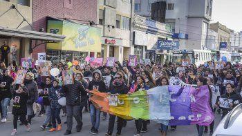 La marcha que se realizó el miércoles por las calles céntricas para reclamar justicia para Brian Gómez.