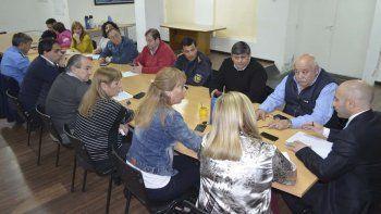 La reunión que Massoni mantuvo ayer en Comodoro Rivadavia con los concejales.