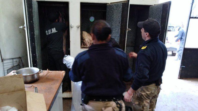 Clausuraron un matadero clandestino en Sarmiento