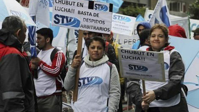 Manifestantes de Chubut estuvieron presentes en la movilización.